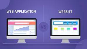 web application vs website